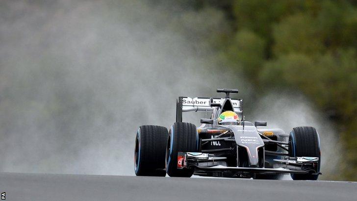 Esteban Gutierrez at Jerez