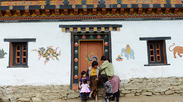 House in a village in Bhutan