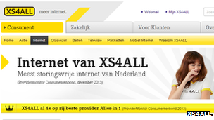 XS4All website