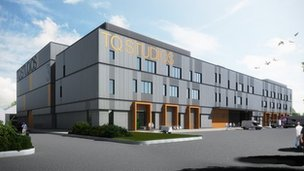 An artist's impression of how the Titanic Studios extension will look