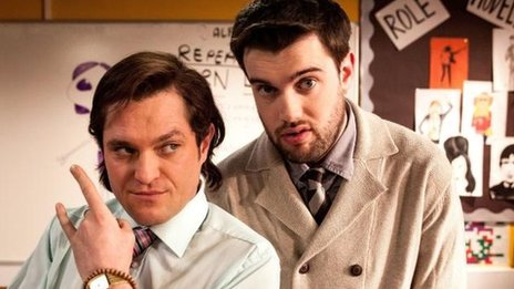 Matt Horne and Jack Whitehall in BBC Three comedy Bad Education