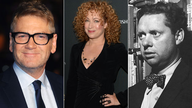 Sir Kenneth Branagh, Alex Kingston and Dylan Thomas