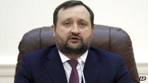 Ukraine acting Prime Minister Serhiy Arbuzov (29 Jan 2014)