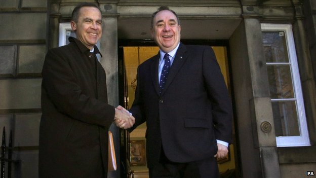 Mark Carney and Alex Salmond