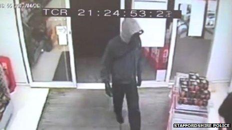 Robbery CCTV footage