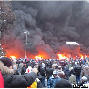 January protests in Independence Square, Kiev