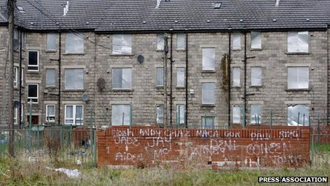 A deprived area in the UK