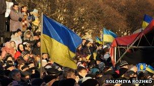 Protests in Lviv December 2013