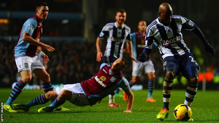 Youssouf Mulumbu on the ball for West Brom