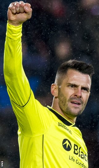 St Mirren scorer Steven Thompson