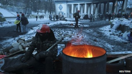 Protest camp in Kiev (29 Jan 2014)