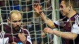 Hearts penalty scorer Jamie Hamill