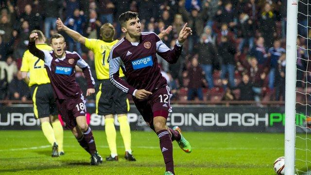 Hearts goalscorer Callum Paterson