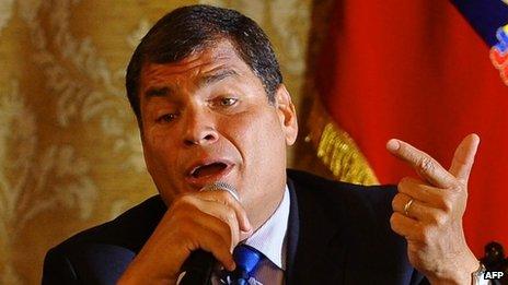 Rafael Correa, 22 Jan 2014