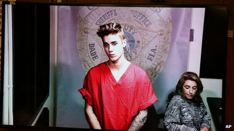 Justin Bieber appears before Florida judge by videolink. 23 Jan 2014