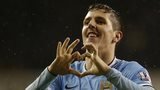 Stevan Jovetic celebrates scoring his side's fourth goal in the 5-1 rout of Tottenham