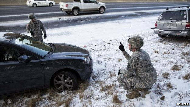 National Guardsmen in Atlanta, 29 Jan