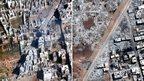 Homes 'deliberately razed' in Syria