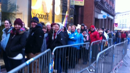 In Belfast, the fans were in good spirits as they waited at Castle Place