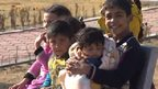 Displaced children in Karbala