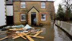 Holly Baillie-Groham, outside her home in Thorney, on the road to Muchelney