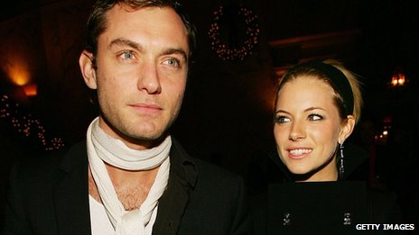 Jude Law and Sienna Miller in 2005