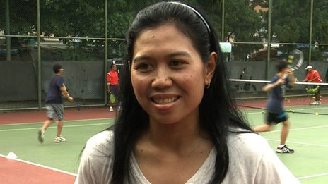 Yayuk Basuki of Indonesia now runs a tennis academy
