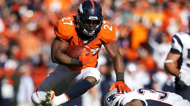Knowshon Moreno in action for the Denver Broncos