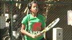 Young Indonesian tennis player Fitriani Sabatini