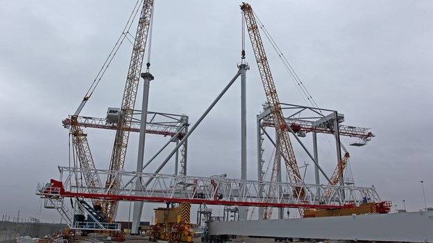 Ship To Shore Gantry Crane Nedir : Southampton western docks receives new cranes bbc news
