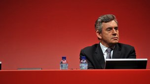 Gordon Brown at Labour Party Conference 2008