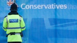 Police Officer at Conservative Conference 2013 in Manchester