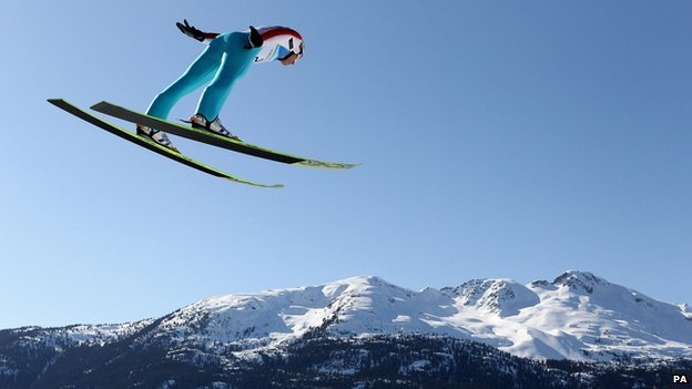 Olympic skier at Whistler in 2010