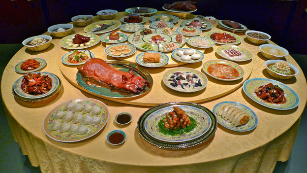 Man-Han banquet rotating table