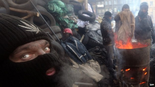 Protesters have been on the streets in freezing conditions for months
