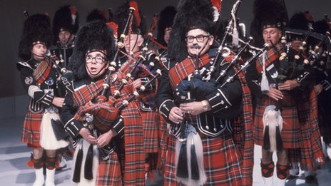 Bagpipe playing The Two Ronnies