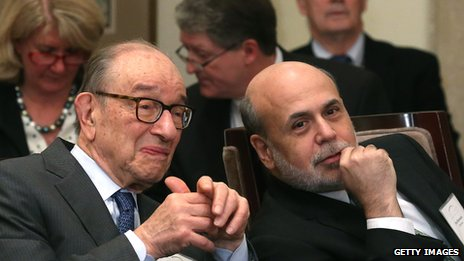 Alan Greenspan and Ben Bernanke