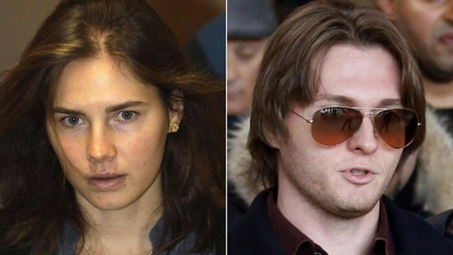 Amanda Knox and Raffaele Sollecito (file images)