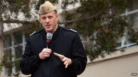 Vice-Adm Michael Rogers, commander of US Fleet Cyber Command and US 10th Fleet, spoke in January 2012