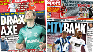 Composite image of Mirror and Star back pages