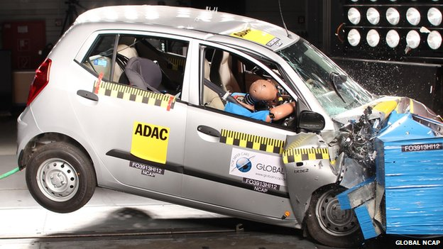 Hyundai i10 received a zero-star safety rating for adult occupant protection