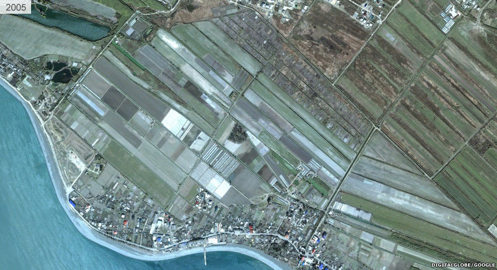 Satellite view of Sochi stadium area 2005