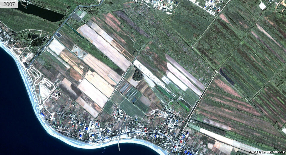 Satellite view of Sochi stadium area 2007