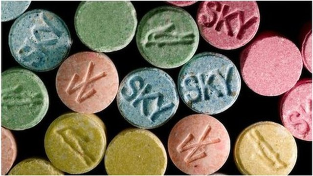 Ecstasy pills from government handout