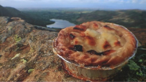 Stuart Hyde tweeted this photograph of a pie