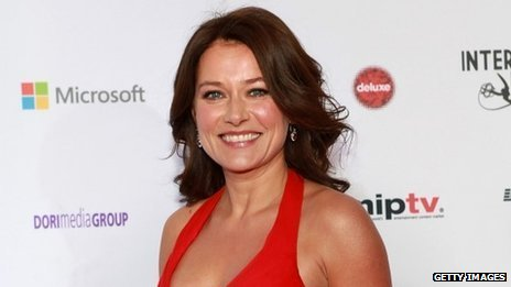 Danish actress Sidse Babett Knudsen at the Emmy Awards in New York, November 2012