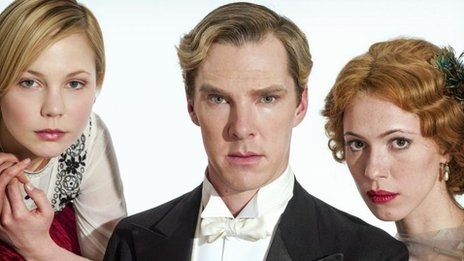 Adelaide Clemens, Benedict Cumberbatch and Rebecca Hall in Parade's End