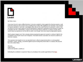 Lavabit blog