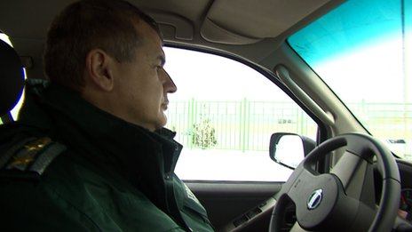 A local Bulgarian police commissioner, Hristo Stefanov, January 2014