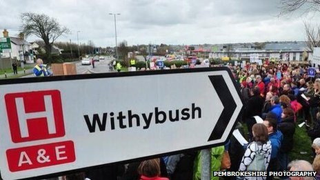 Withybush protest